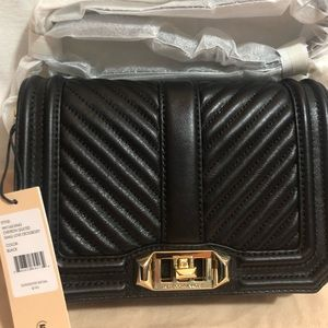 New Rebecca Minkoff Chevron Quilted Small Love C